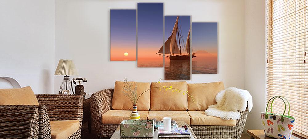 Картины в Днепре – как подобрать холст по цвету интерьера?