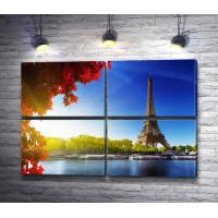 Река Сена, вид на Эйфелеву башню, Париж