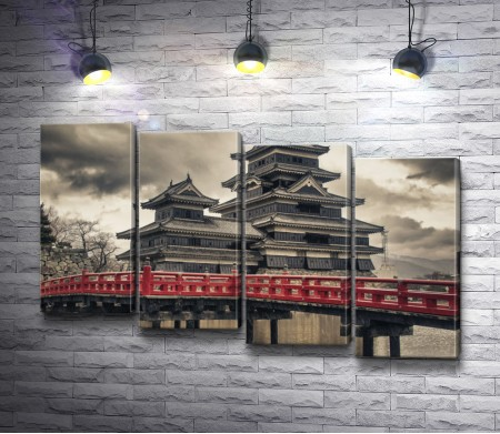 Старинный японский замок Мацумото