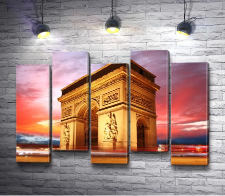 Триумфальная арка на закате, Париж