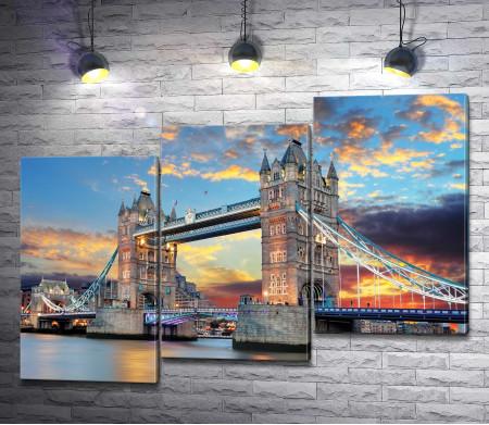 Закат над Тауэрским мостом, Лондон