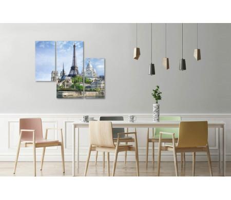 Центр Парижа. Вид на Эйфелеву башню