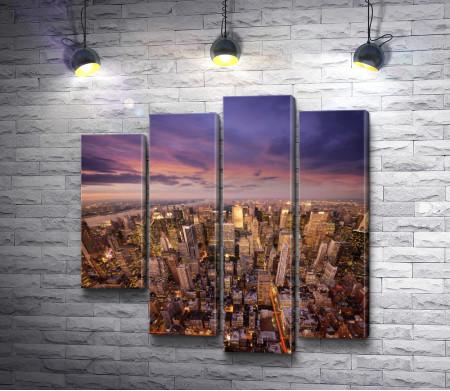 Панорама современного Нью-Йорка