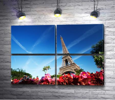 Париж весной. Фото с Эйфелевой башней