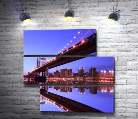 Мост. Ночной город