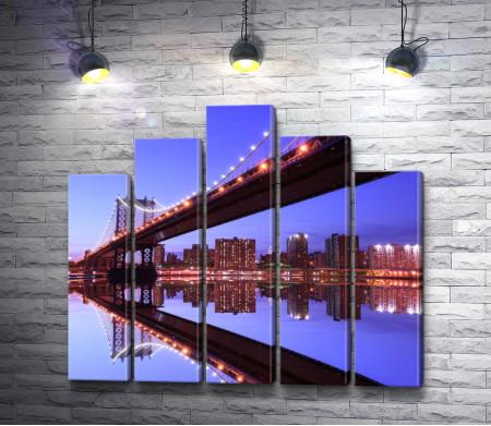 Мост. Ночной Нью-Йорк