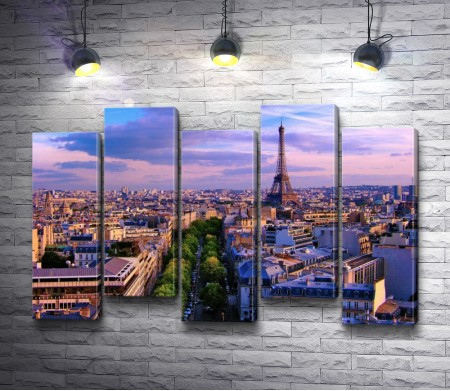 Панорама Парижа. Эйфелева башня