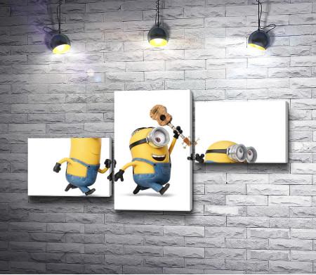 Три танцующих миньона