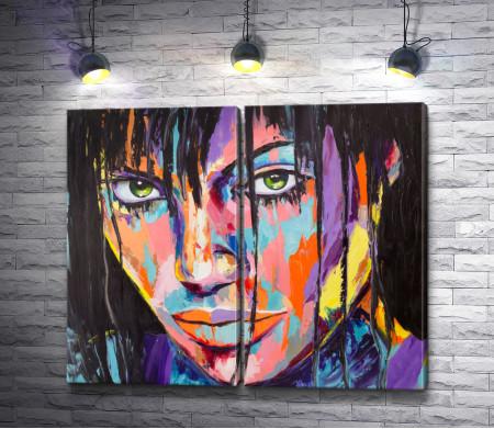 Девушка в красках