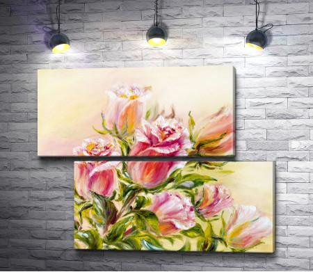 Весенние розы. Акварель