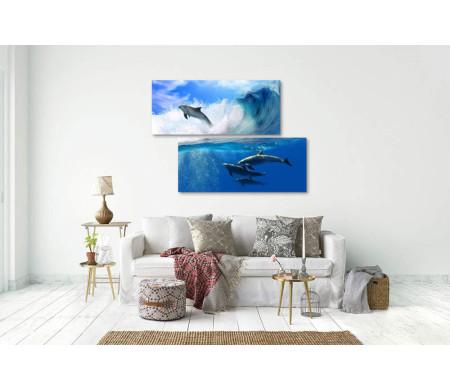 Дельфины в океане