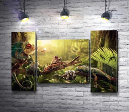 Игуана в джунглях