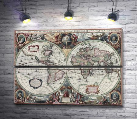 Винтажная карта мира