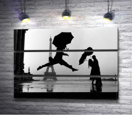 Танец под зонтом. Черно-белый Париж