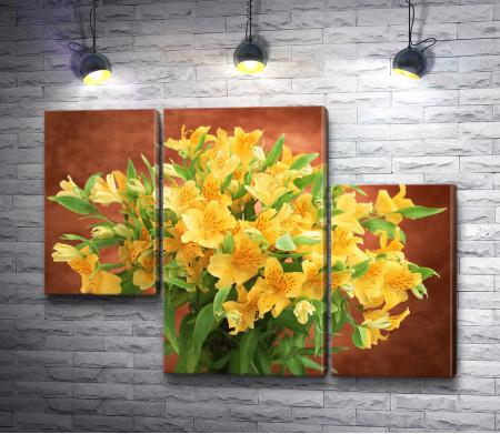 Букет из желтых цветов