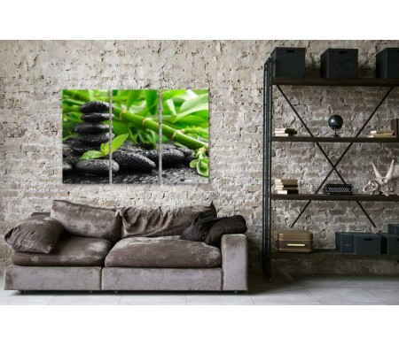 Спа камни и бамбук