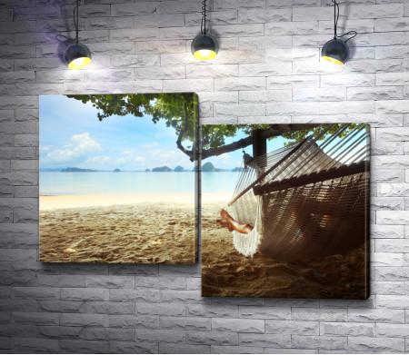 Отдых в гамаке на побережье