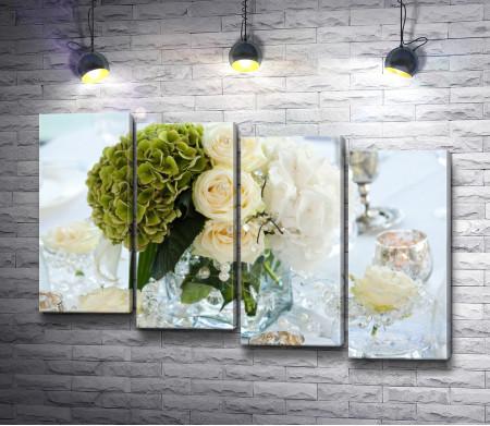 Свадебная композиция с цветами