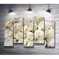 Свадебные бутоны белых роз
