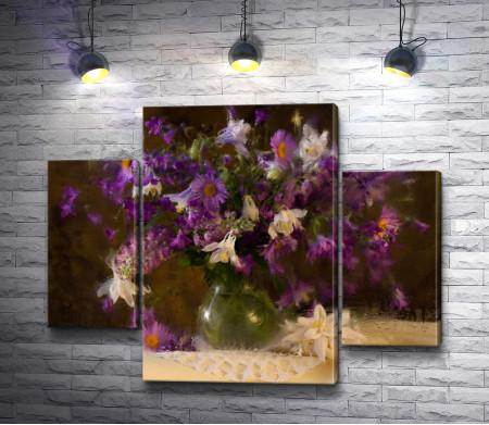 Натюрморт с букетом полевых цветов