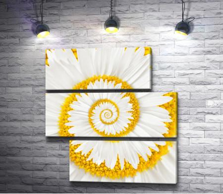 Креативный спиральный цветок