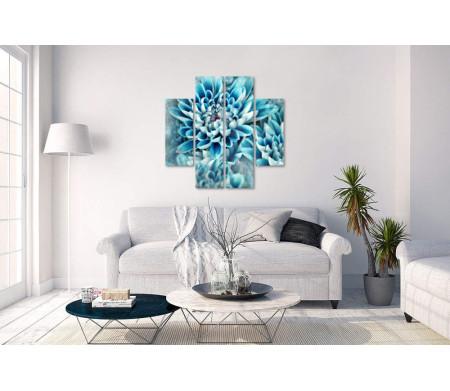 Изысканные голубые хризантемы