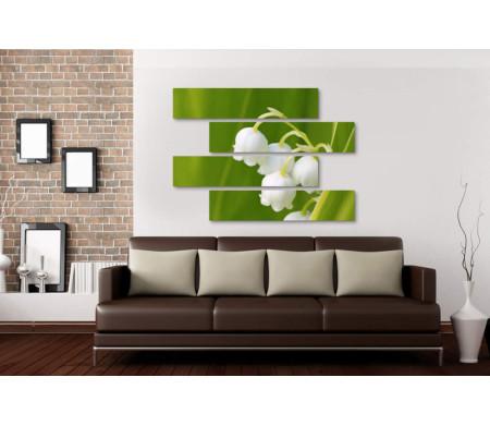 Ландыш в зеленых листьях