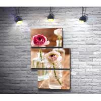 Натюрморт с пионами в стеклянных вазах