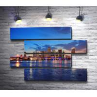 Южная Флорида. Вид на ночной город