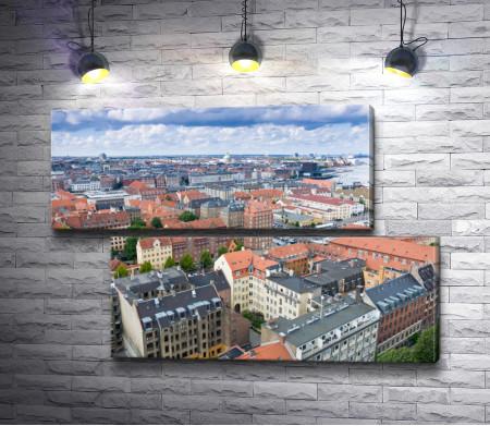 Вид на город Копенгаген, Дания