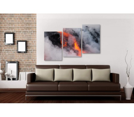 Красный горячий поток лавы, Большой остров, Гавайи