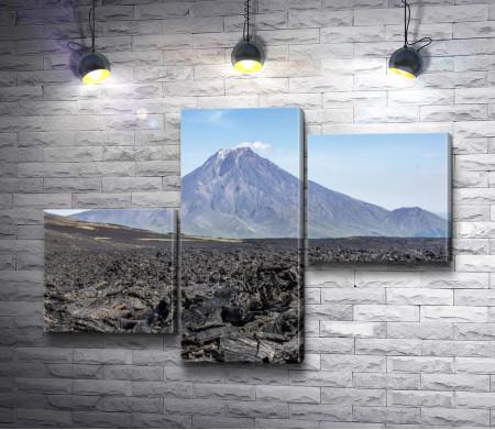 Вид на вулкан Большая Удина, Камчатка