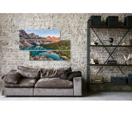Невероятное озеро Морейн в канадской Долине десяти пиков