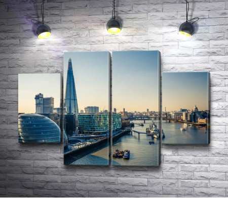 Вид на Темзу и Лондон-Сити. Лондон