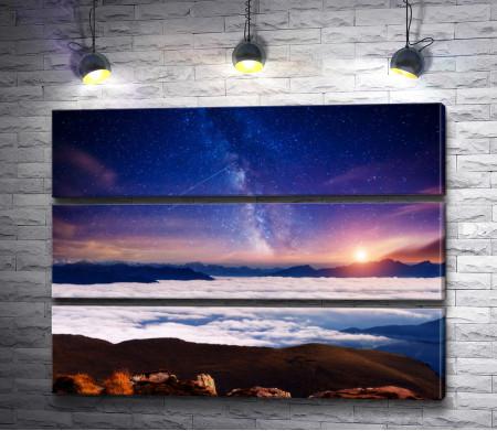 Пейзаж со звездным небом
