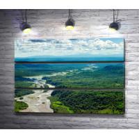 Река в тропических лесах Амазонии