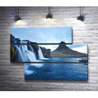 Водопады на вулканическом полуострове в Исландии