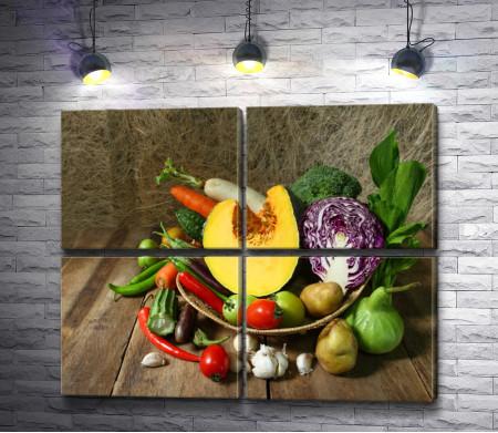 Натюрморт с осенними овощами
