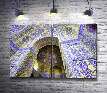 Фрагмент мечети Имама. Площадь Накш-э Джахан. Иран