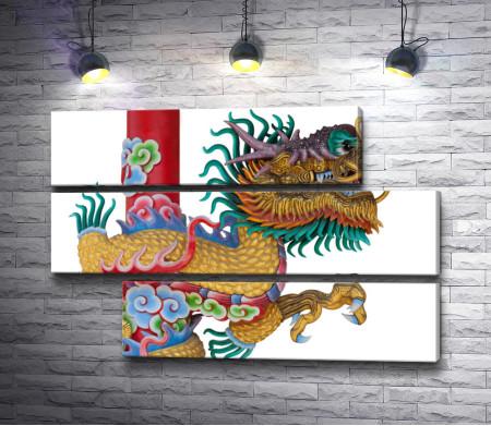 Китайский дракон на белом фоне