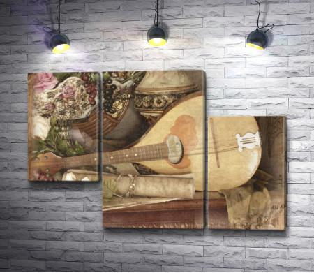 Мандолина и восточные вазы
