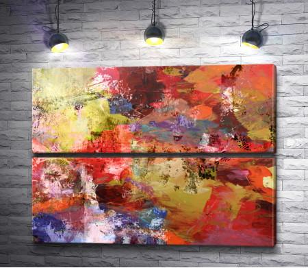 Оригинальная абстракция в красных тонах