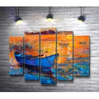 Лодка и закат солнца