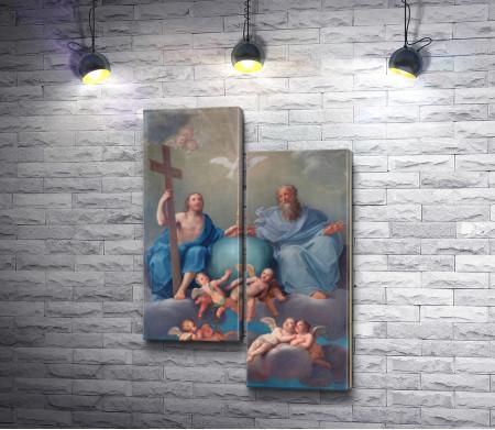 Фреска: Святая троица,  Болонья,  Италия