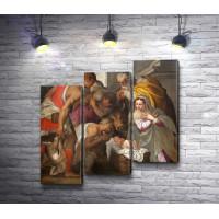 Рождение Иисуса,  фреска в церкви Сан-Бернардино в Италии