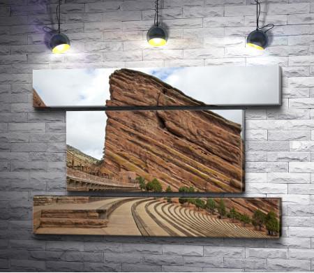 Исторический амфитеатр Красные скалы вблизи Денвера, Колорадо