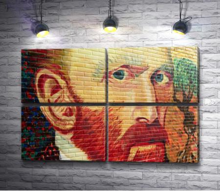Ван Гог - граффити на стене