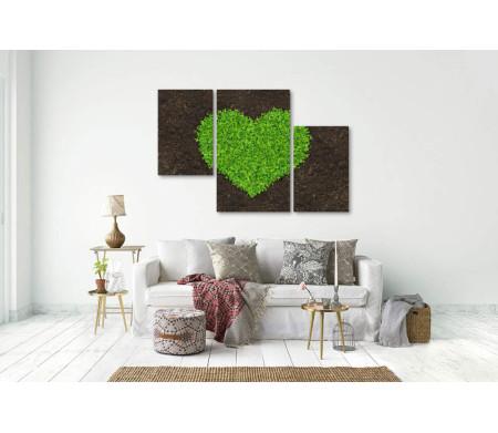 Трава,  высаженная в форме сердца