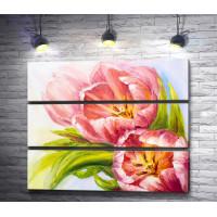 Тюльпаны,  картина маслом