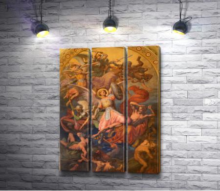 Фреска Архангел Михаил и война